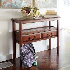 Pier One Console Table Anywhere Tuscan Brown Console Table With Pull Handles Pier 1 Imports