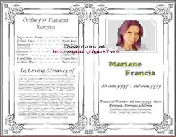 Programs For Funeral Services 14 Obituary Programsagenda Template Sample Agenda Template Sample