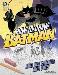 how to draw batman and his friends and foes drawing dc super