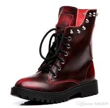 womens boots europe the leather boots retro rivet boots boots martin