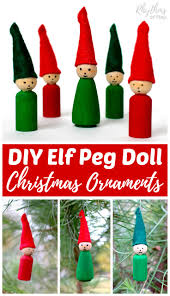 elf peg doll ornaments for christmas rhythms of play