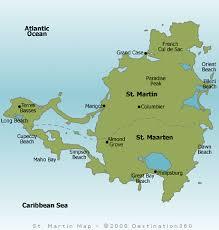 map of st martin st martin map st maarten map
