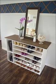 furniture bench seat with shelves shoe storage drawers mudroom in