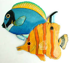 tropical fish metal designs handcrafted tropical decor
