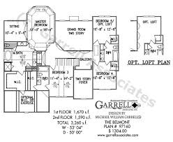 two floor house plans belmont house plan house plans by garrell associates inc