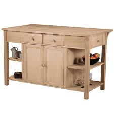 unfinished solid wood kitchen cabinet doors kitchen island with breakfast bar is a solid wood storage solution