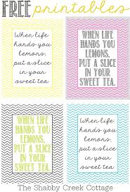 free printable art home decor when life hands you lemons printables
