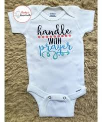 Christian Baby Shower Favors - he answered baby onesie christian baby onesie bible verse baby