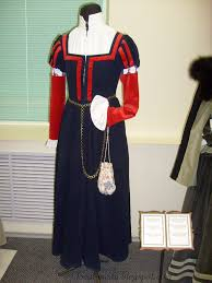 local fashion medieval costume of belarus