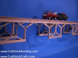 popsicle stick bridge craft stick crafts craft stick bending