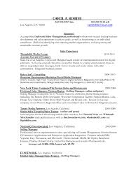 Resume Samples For Executives account executive resume sample