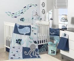 Bedding Sets For Nursery by Lambs U0026 Ivy R Oceania Aqua Blue Aquatic 4 Piece Crib Bedding Set