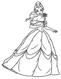princess belle coloring pages to really encourage in coloring page