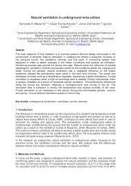 natural ventilation in underground wine cellars pdf download