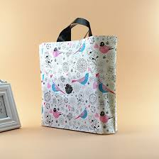 clothes large plastic gift bags with handles plastic transport