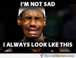 Lebron Crying Meme - basketball player crying