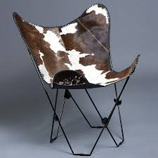 Folding Butterfly Chair Butterfly Chair Folding Lounge Modern Sling Accent Seating Cowhide
