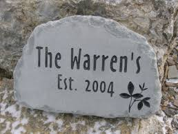 Engraved Garden Rocks Wedding Anniversary Stones Gifts Custom Engraved Garden