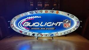 bud light nfl neon sign bud light all team nfl neon sign antique price guide details page
