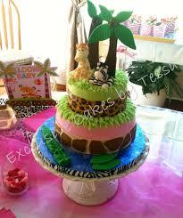 jungle baby shower cake fondant giraffe fondant zebra fondant