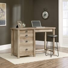 Computer Desk With Cabinets Furniture Oak Wood Computer Desk With Four Drawers By Sauder
