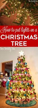 how do you put lights on a christmas tree how to department store christmas tree and rolls