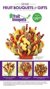send fruit bouquet fruit bouquet sending table tent card by bloomnet issuu