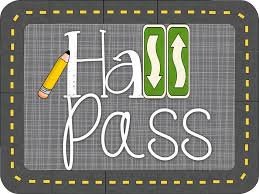 Bathroom Pass Template Downeast Teach Hall Pass Linky