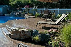 Small Water Features For Patio Different Level Patios Flower Beds And Raised Waterfall Make