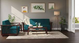 serra wooden sofa 3 2 set urban ladder