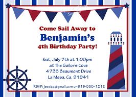 birthday invites simple nautical birthday invitations ideas