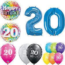 qualatex balloons age 20 happy 20th birthday qualatex balloons helium party