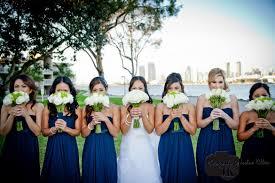 bridesmaid dresses san diego san diego bayfront wedding white bouquets wedding and wedding
