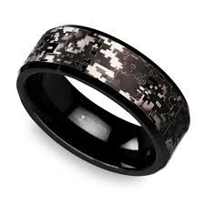 camo mens wedding band digital camo men s wedding ring in tungsten