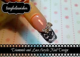 snazzy diamonds and lace nail art design youtube