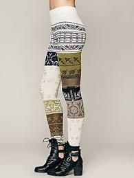 Upcycle Leggings - pink rose juniors pants printed sweater leggings juniors pants