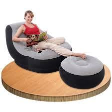 intex inflatable ultra lounge ottoman sofa chair camping portable