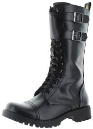 s boots buckle volatile tank s buckle combat boots faux leather ebay