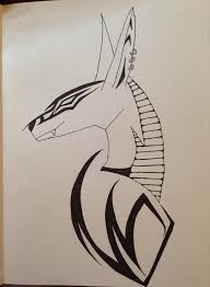 tribal anubis by rocknrollsaz on deviantart
