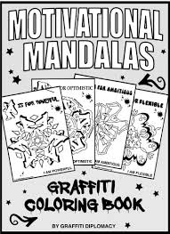 motivational coloring positive affirmations to print graffiti