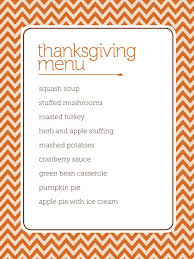 customizable menu templates customizable thanksgiving menus hgtv