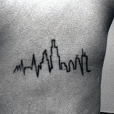 heartbeat city tattoo 50 heartbeat tattoo designs for men electronic pulse ink ideas