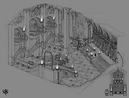 Dwarf Fortress Bedroom Design Underground Dwarf Great Hall Concept Art Halls Of Moria