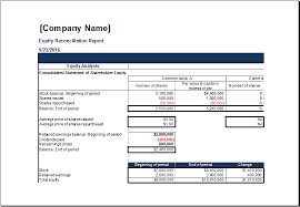 stock report template excel ms excel equity reconciliation report template excel templates
