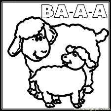 mother baby sheep coloring coloring free sheep coloring