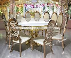 gold dining table set royal furniture round gold dining table set luxury with led buy