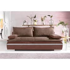 canapé avec coffre canapé convertible tissu bi matière avec coffre de rangement moka