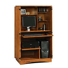 Locking Computer Armoire Computer Armoires Laptop Cabinet Desks W Doors Officefurniture