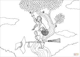 garden witch coloring page free printable coloring pages