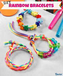 diy rainbow bracelets for kids live craft love